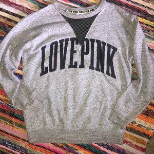 PINK Mesh V-Neck Sweater